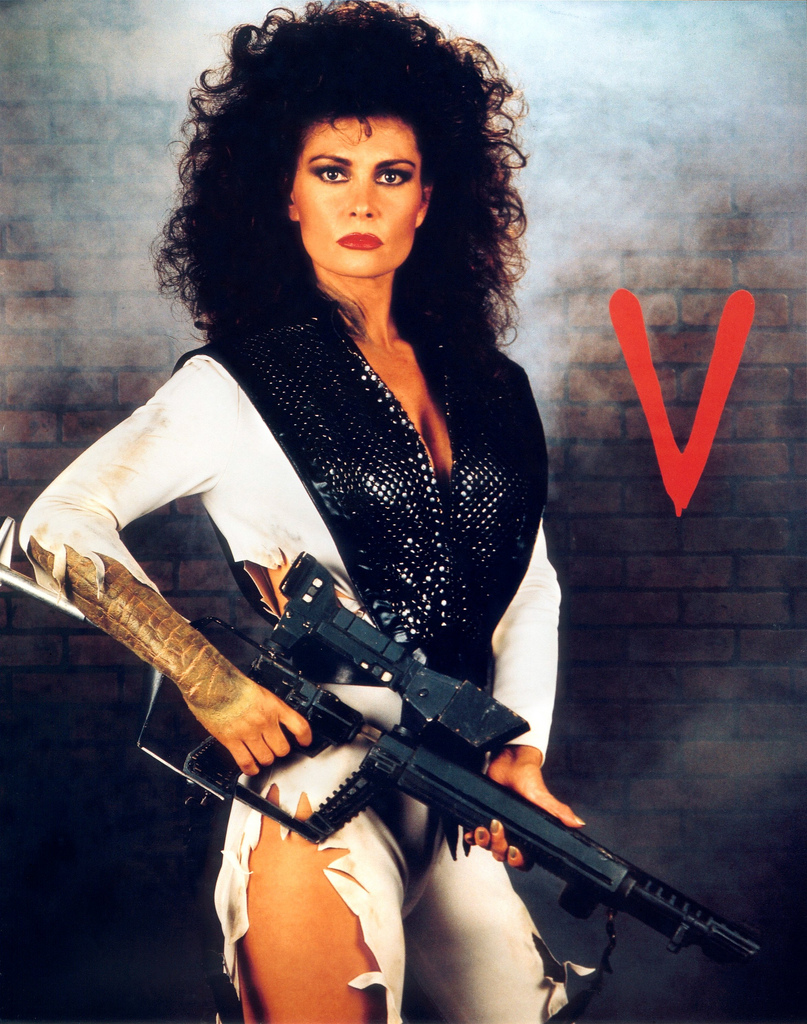 Signed Diana photograph  Publicity shot for 'V' the TV series